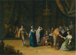 An Elegant Company Making Merry in an Interior   Anthonie Palamedesz   Oil Painting