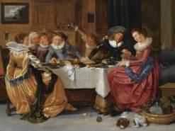An Elegant Merry Company | Hendrick Pot | Oil Painting