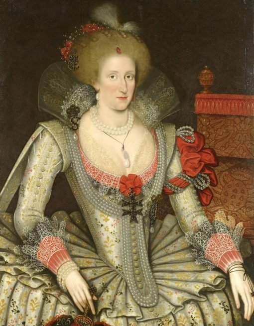 Anne of Denmark | Marcus Gheeraerts the Younger | Oil Painting