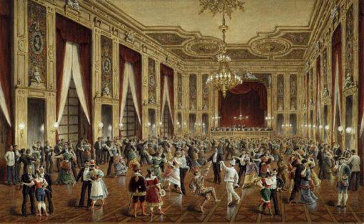Masked Ball in Schwenders Colloseum | Gustav Zafaurek | Oil Painting