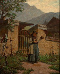 A Quiet Cemetery   Paul Felgentreff   Oil Painting