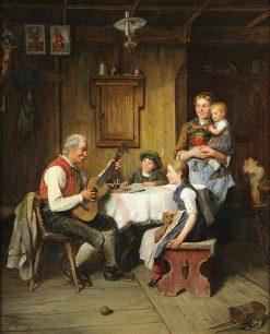 A Family Gathering   Paul Felgentreff   Oil Painting