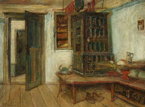 Farmhouse Interior   Paul Felgentreff   Oil Painting