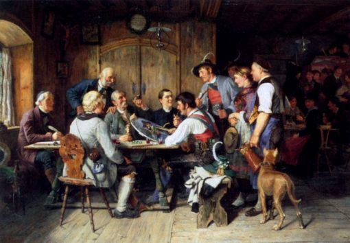 The Winner Of The Darts Match | Paul Felgentreff | Oil Painting