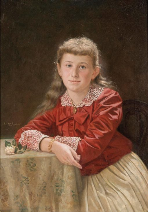 Portrait of a Girl | Jose Maria Fenollera | Oil Painting