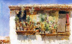 A Balcony in Granada   Rafael Fernandez Arroyo   Oil Painting