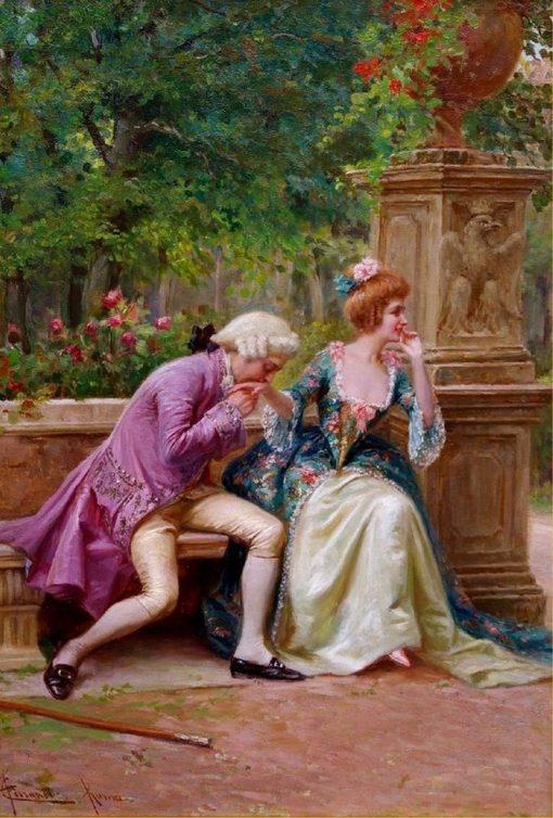An amorous advance   Carlo Ferranti   Oil Painting