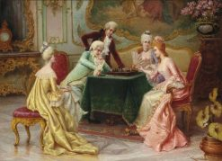 The Chess Game | Carlo Ferranti | Oil Painting