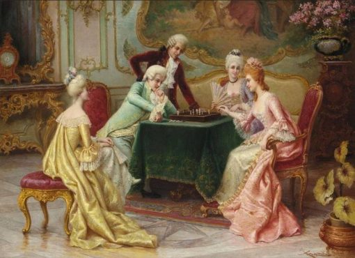 The Chess Game   Carlo Ferranti   Oil Painting