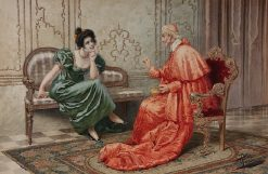 Cardinal and Lady Gossiping | Giuseppe Aureli | Oil Painting