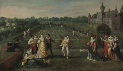 Courtiers Strolling In a Garden | Hieronymus Francken I | Oil Painting