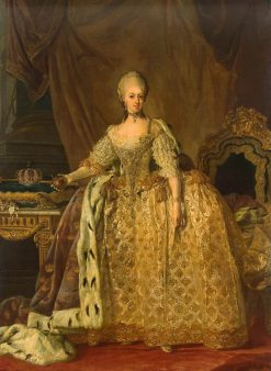 Portrait of Queen Sophie-Magdalene | Lorens Pasch the Younger | Oil Painting