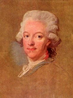 Portrait of King Gustav III of Sweden | Lorens Pasch the Younger | Oil Painting
