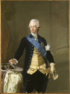 Portrait of Gustav III of Sweden | Lorens Pasch the Younger | Oil Painting