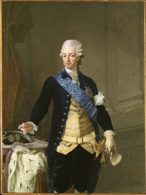 Portrait of Gustav III of Sweden   Lorens Pasch the Younger   Oil Painting