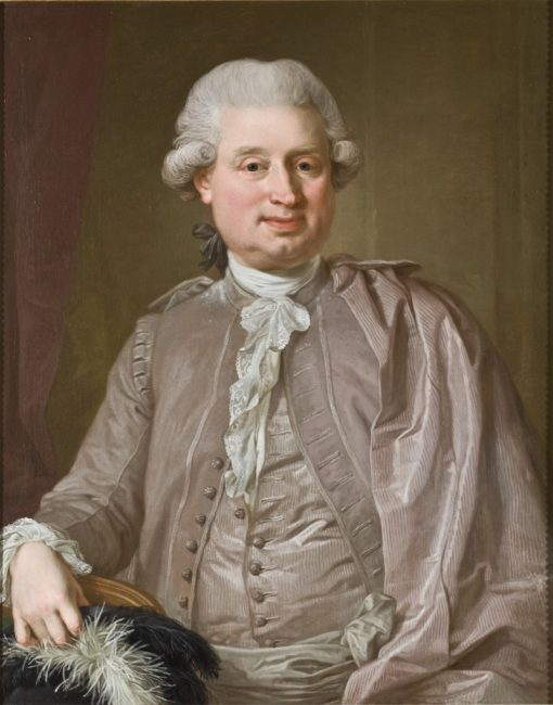 Portrait of the wholesale dealer Johan Fredrik Burghadi | Lorens Pasch the Younger | Oil Painting