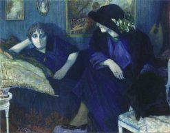 Conversation entre deux femmes | Leo Gestel | Oil Painting