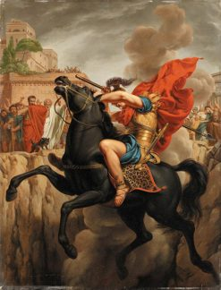 The Death of Marcus Curtius | Pierre Joseph Celestin Francois | Oil Painting