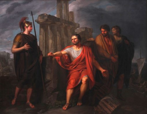 Marius assis sur les ruines de Carthage | Pierre Joseph Celestin Francois | Oil Painting