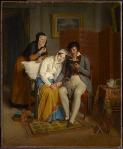 Reading to the Convalescent | Jean Augustin Franquelin | Oil Painting