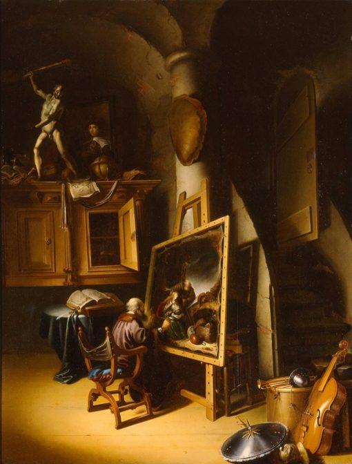 An Artist in His Studio | Adriaen van Gaesbeeck | Oil Painting