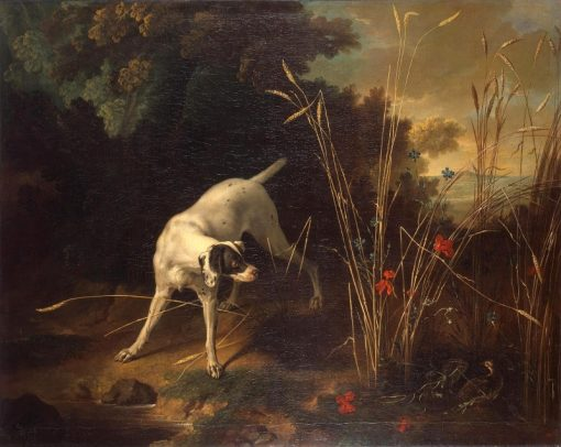 Dog Pointing a Partridge | Jean-Baptiste Oudry | Oil Painting
