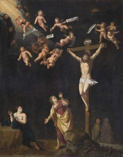 The Crucifixion   Johann Heinrich Wedekind   Oil Painting