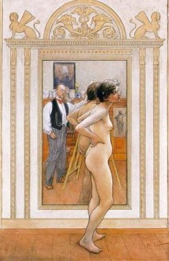 Before the Mirror | Carl Larsson | Oil Painting