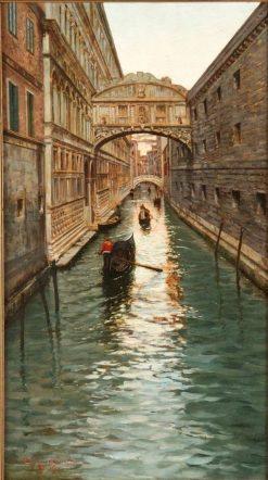 Venetian Canal   Fausto Giusto   Oil Painting