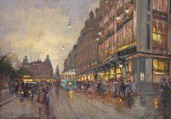 Parisian Boulevard   Fausto Giusto   Oil Painting
