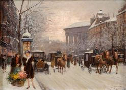 Paris in Winter | Fausto Giusto | Oil Painting