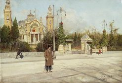 View of the Tonhalle Pavilion in Zurich | Fausto Giusto | Oil Painting