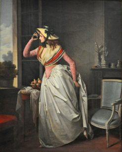 Femme a la lorgnette | Henri Nicolas van Gorp | Oil Painting