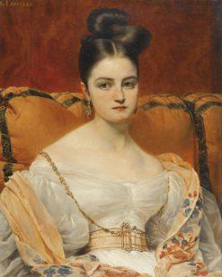 Portrait of Henriette Grevedon | Francois Gabriel Guillaume Lepaulle | Oil Painting