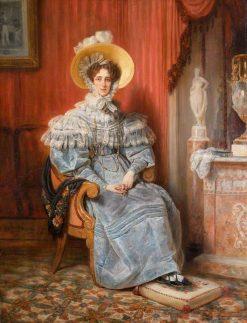 Princess Maria Elizabeth Amalie Franziska Wagram of Bavaria | Francois Gabriel Guillaume Lepaulle | Oil Painting