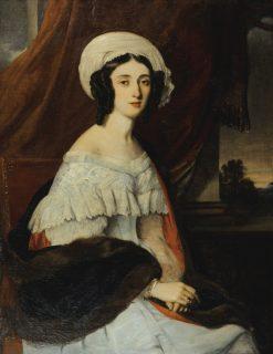 Portrait of Eugenie Gabrielle Barbou Des Courières | Alexandre-Marie Colin | Oil Painting