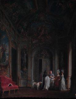 La Galerie doree sous Louis XVI | Jean-Francois Garneray | Oil Painting