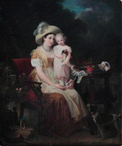 Une femme assise tenant une jeune fille sur ses genoux | Marguerite Gerard | Oil Painting