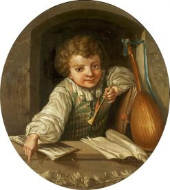 Boy with a flute | Ulrika Fredrica Pasch | Oil Painting