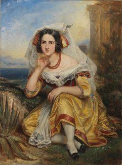 Girl from Frascati | Francois Gabriel Guillaume Lepaulle | Oil Painting