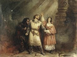 The trio in act 5 of Giacomo Meyerbeers opera Robert le diable | Francois Gabriel Guillaume Lepaulle | Oil Painting