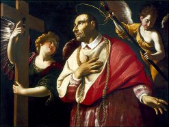 St. Carlos Borromeo with Angels | Antiveduto Grammatica | Oil Painting