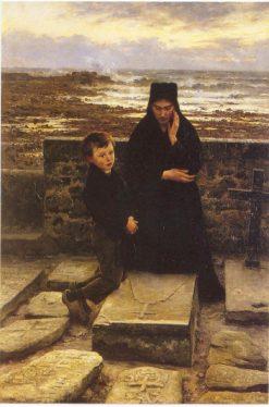 La veuve de lÎle de Sein | Emile Renouf | Oil Painting