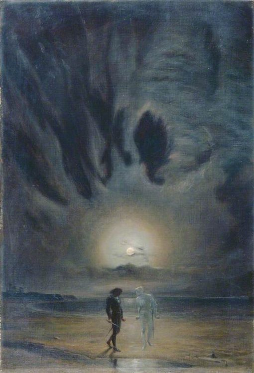 Hamlet and the Ghost | Frederick James Shields | Oil Painting