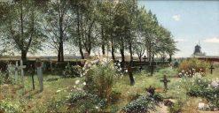 Cemetery in Summer   Gottfrid Kallstenius   Oil Painting