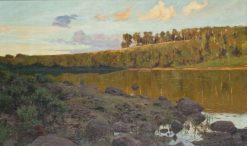 Lake in the Forest   Gottfrid Kallstenius   Oil Painting