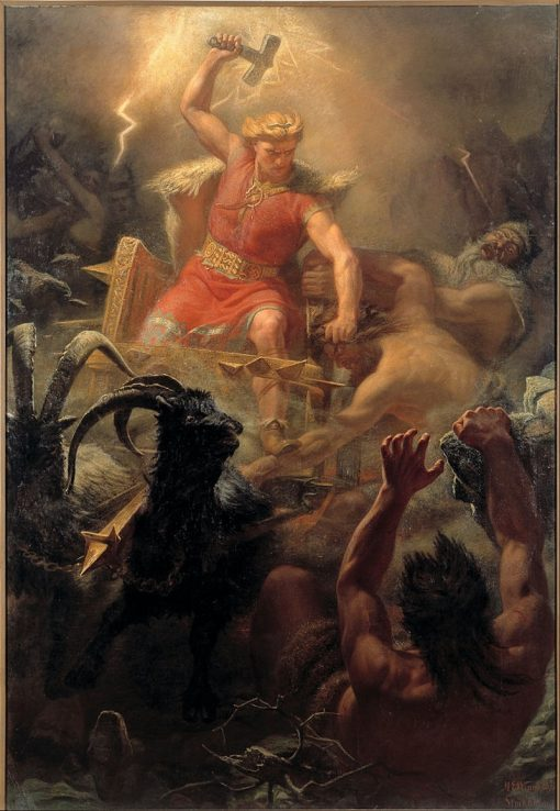 Tors Fight with the Giants | Marten Eskil Winge | Oil Painting