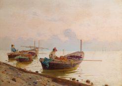 Mediterranean Fishermen | Giuseppi Cosenza | Oil Painting