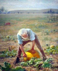 Farmer With Pumpkin | Charles Frederick Naegele | Oil Painting