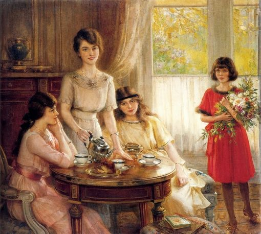 Tea Time | Albert Lynch | Oil Painting